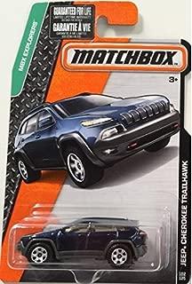 2016 Matchbox MBX Explorers Jeep Cherokee Trailhawk (Dark Blue) by Matchbox
