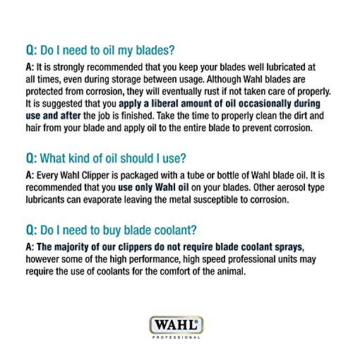 Wahl Professional Animal Blade Oil for Pet Clipper and Trimmer Blades...