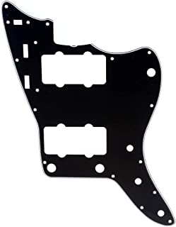 Musiclily Pro 13-Hole 65 60s Vintage Guitar Pickguard for Fender American Jazzmaster, 3Ply Black