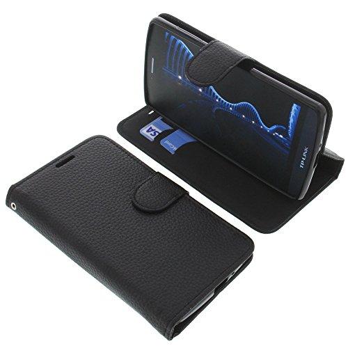 foto-kontor Tasche für TP-Link Neffos C5 Book Style schwarz Schutz Hülle Buch