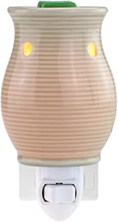 STAR MOON Pluggable Fragance Ceramic Wax Melt Night Light Warmer No fire Hazard Packed with Two Bulbs
