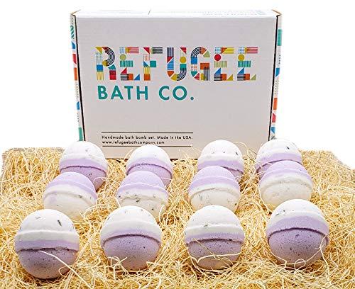 Refugee Bath Co. Variety Pack Bath Bombs (12 Pack Lavender)
