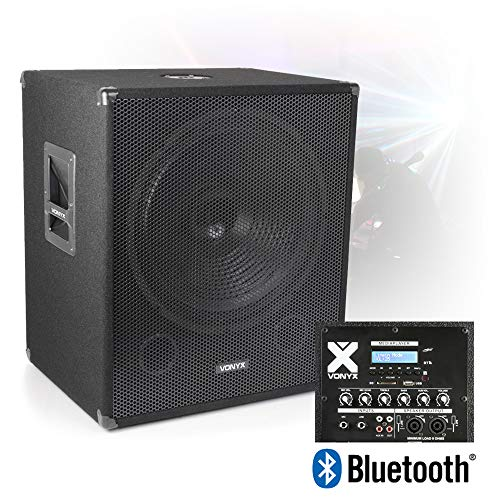 VONYX 18' Bi-Amplified Active Powered Subwoofer DJ PA Speaker with Bluetooth USB 1000w