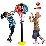 Utapossin Adjustable Canasta Baloncesto Infantil, Canasta de Baloncesto con Soporte, Canasta de Baloncesto Exterior, Canasta Baloncesto Infantil Ajustable ,Altura Ajustable 50CM-115CM, para Niños 3+