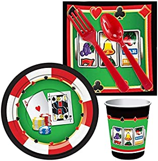 BirthdayExpress Casino Party Supplies Snack Pack for 16