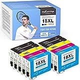 myCartridge SUPRINT 10 cartuchos de tinta compatibles con Epson 18 18XL para Epson Expression Home XP-202 XP-205 XP-215 XP-225 XP-305 XP-312 XP-322 XP-325 XP-402 XP-405 XP-412 XP-415 XP-425