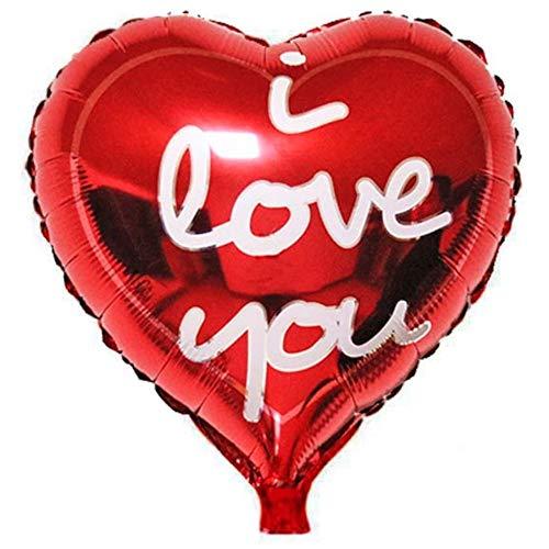 DIWULI, el Globo del corazón te Amo, Forma de corazón del Globo, corazón del Globo Globo Rojo del corazón, Papel de Globo, Globo de la Hoja Regalo, para el cumpleaños, la Boda,