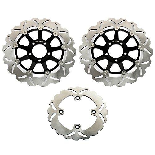 TARAZON Bremsscheiben Rotoren Set vorne hinten 3 pcs für KAWASAKI NINJA ZX6R 600 G 98-01 ZX6R 636 2002 ZX9R 900 ZX900C 1998 1999