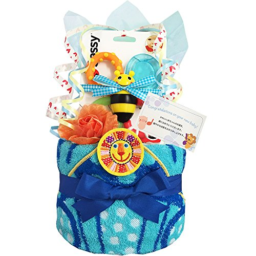 KanonBabys おむつケーキ 男の子 サッシー sassy 出産祝い 1段 Sサイズ 1501