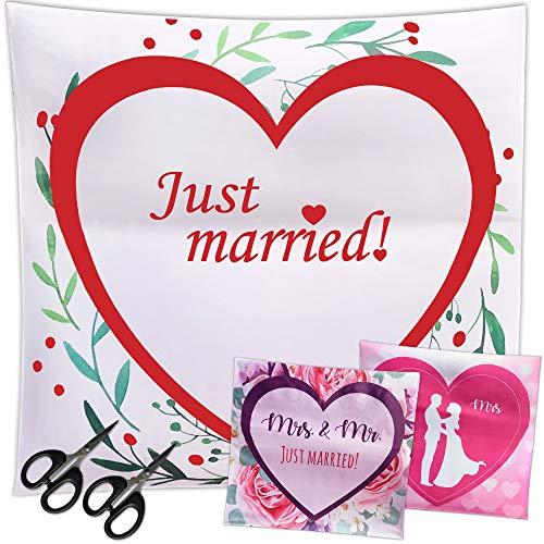 LionSports Festliches Hochzeitsherz zum Ausschneiden + Perfektes Hochzeitsspiel für eine traumhafte Hochzeit + Geschenk + Komplimente zum Verschenken + Dieser Hochzeitstag Wird unvergesslich