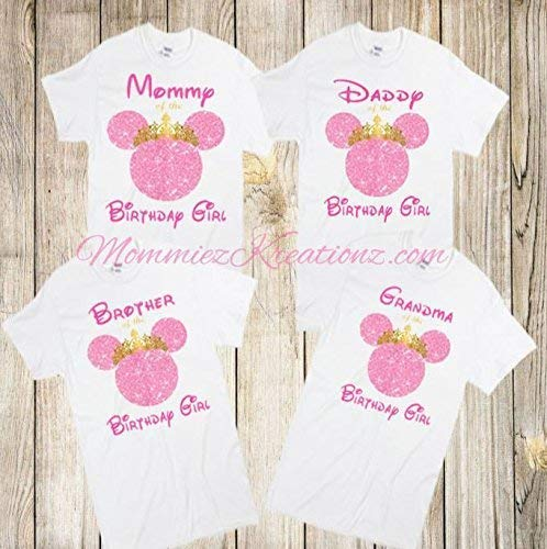 Family Shirt Baby Minnie Mouse Birthday Shirt Minnie Mouse Birthday Shirt