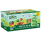 GoGo squeeZ Applesauce on the Go, Variety Pack (Apple/Banana/Strawberry), 3.2 Ounce (20 Pouches),...
