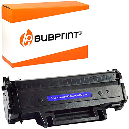 Bubprint Kompatibel Toner als Ersatz für Samsung MLT-D101S für ML-2160 ML-2165 ML-2165W ML-2168 SCX-3400 SCX-3400F SCX-3405 SCX-3405F SCX-3405FW SCX-3405W SF-760P Schwarz