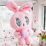 N / A Shy Bunny Peluche de Juguete Rosa Ojos Grandes Conejito Lindo Tapones para los odos beb Lindo Juguete Personaje nia Regalo de cumpleaos de Navidad sobre 40X21cm