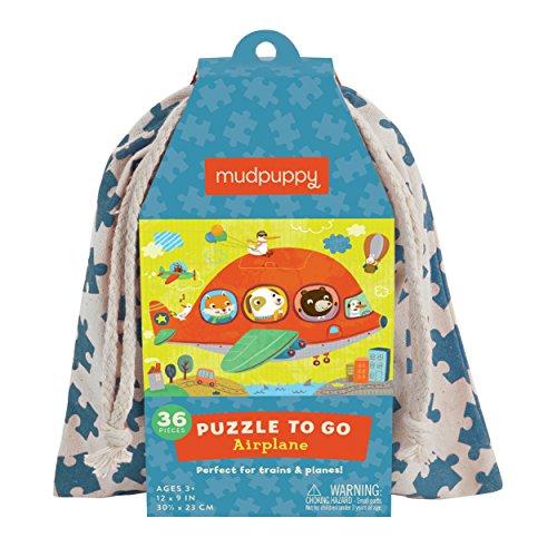 Mudpuppy 354599   Puzzle To Go Avión   puzzle para niños 36 piezas