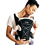 Bebamour Baby Carrier Soft and Breathable Baby Sling for Newborn Ergonomic 3-in-1 Front and Back Baby Carrier Wrap for Toddlers (Black)
