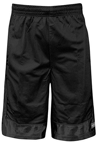 Shaka Wear Men's Basketball Shorts – Mesh Workout Gym Sports Active Running Athletic Pants with Pockets Regular Big Black BM1702_5X