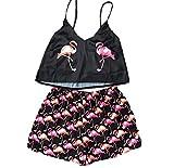 Animal Cartoon Print Cute Pijamas Home Set Summer V-Neck Sexy Pijamas Ladies Pijamas Sueltos