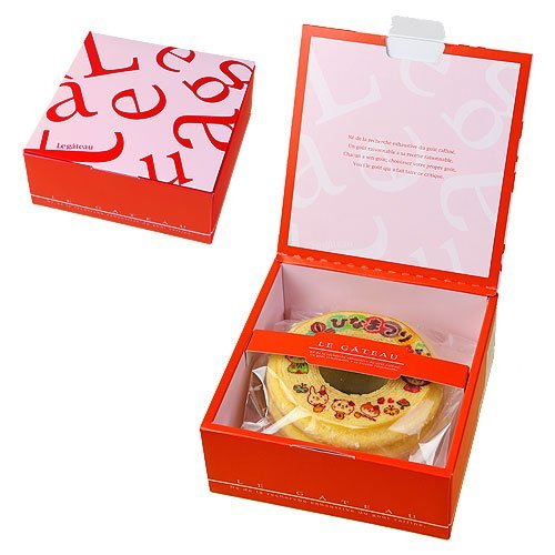 バウムクーヘン ひなまつり 雛祭 1個 ギフト箱入り 桃の節句 内祝いギフト赤色(レッド)の箱