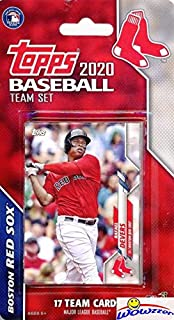 Boston Red Sox 2020 Topps Baseball EXCLUSIVE Special Limited Edition 17 Card Complete Factory Sealed Team Set with Rafael ...