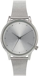 Komono KOM-W2860 Women's Stainless Silver Mesh Bracelet Band Silver Dial Watch