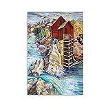 DONGXIO Colorado Rocky Mountains Poster, dekoratives