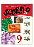 Scorpio Zodiac Sign Happy Birthday Card 8.5 x...
