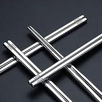 四角箸合金100pair /ロット食品グレードトップ304ステンレス鋼の食器箸家庭用金属カスタムロゴ
