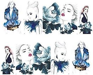 Dibujos animados Print Diseño–2pieza uñas Pegatinas Full Cover Water Transfer Pegatinas Nail Art Uñas Agua Design–Clavo Tattoo, diseño pin up Diseño–stz182