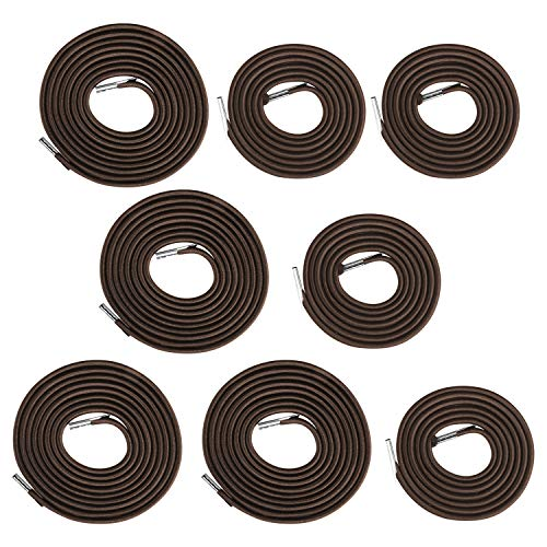 Flexzion Zero Gravity Chair Replacement Cord Laces Antigravity Chair 8 Brown Cords (4 Long 4 Short) Universal Bungee Elastic Webbing for Lawn Chairs Outdoor Lounge Patio Recliner Repair Kit Nylon