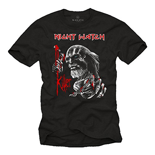 Vintage Rock Band T-Shirt Iron Maiden Style - Stampate Swag Maglietta Game of Thrones Nera L
