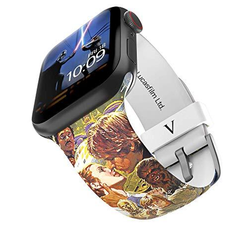 Star Wars - The Empire Strikes Back Smartwatch Band - Licencia oficial, compatible con Apple Watch (no incluido) - Se adapta a 38 mm y 40 mm