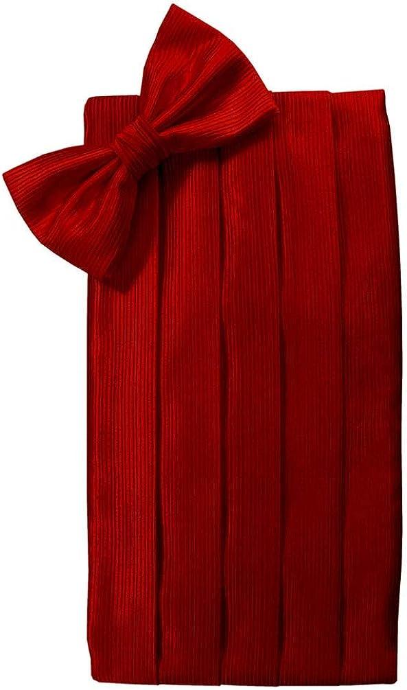 Cristoforo Cardi Faille Silk Cummerbund and Bow Tie Set