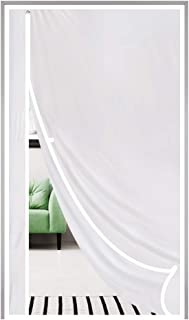 Magnetic Thermal Insulated Door Curtain Fits Door Size 36 x 96, Plastic TPU Magnet Door Covers for Front, Kitchen, Upstair...