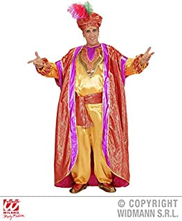 Mens SULTAN DELUXE Costume for Arab Sheik King Ruler Leader Cosplay Outfit Medium 40-42