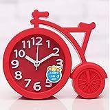 NAOZHONGa Reloj Despertador Creativo Moderno de Dibujos Animados en Forma de Bicicleta Relojes Reloj Despertador para habitación de niños