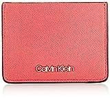Calvin Klein Ck Must Cardholder Cav - Portafogli Donna, Rosso (Coral), 1x1x1 cm (W x H L)