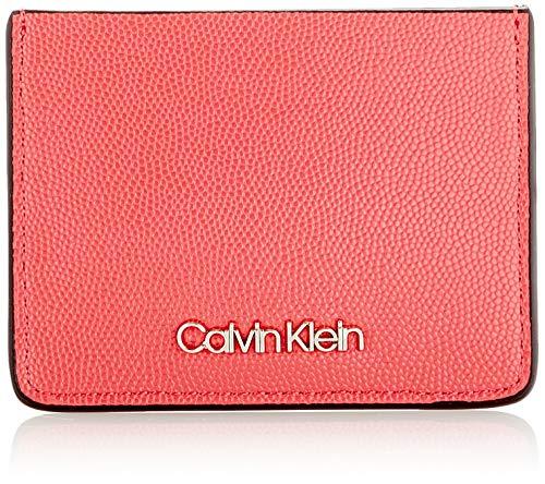 Calvin Klein - Ck Must Cardholder Cav, Carteras Mujer, Rojo (Coral), 1x1x1 cm (W x H L)