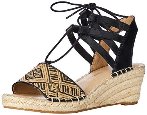 Rockport Marah Lace, Sandales Plateforme Femme, Noir 002, 41 EU