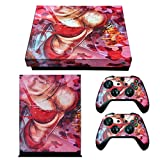eXtremeRate Full Set Faceplates Cover, Home Guide Button Decal, Console Controller Skin Sticker for Xbox One X - Sexy Girl