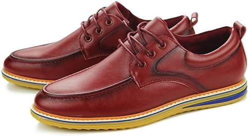 LYZGF Hommes Jeunes Affaires Affaires Loisirs Mode Bas Secours Dentelle Chaussures en Cuir  réductions incroyables