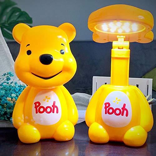 L'énergie de la lampe LED de charge Veilleuse oeil plié pour les enfants d'apprentissage télescopiquement lampe de table,2228E Winnie l'ourson