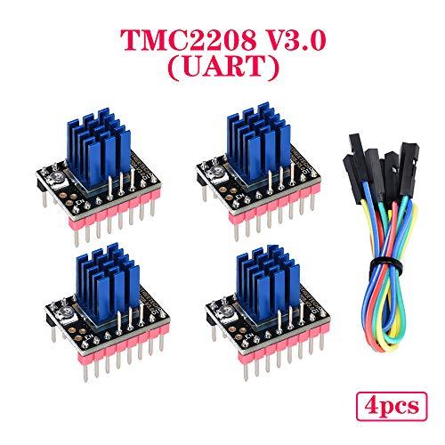 PoPprint TMC2208 V3.0 Stepper Motor Driver UART 3D Printer Parts TMC2130 TMC2209 For SKR V1.3 V1.4 Turbo SKR MINI E3 (4pcs/pack)