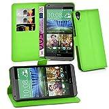 Cadorabo Hülle für HTC Desire 820 - Hülle in MINZ GRÜN – Handyhülle mit Kartenfach & Standfunktion - Case Cover Schutzhülle Etui Tasche Book Klapp Style