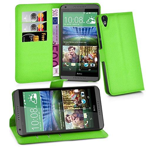 Cadorabo Hülle für HTC Desire 820 in MINZ GRÜN - Handyhülle mit Magnetverschluss, Standfunktion & Kartenfach - Hülle Cover Schutzhülle Etui Tasche Book Klapp Style