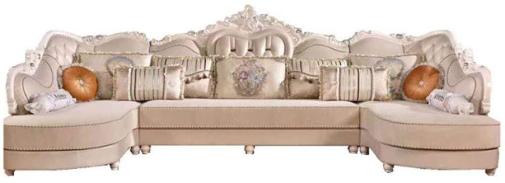 転換可能な部門別の切り分けられた布のソファーのソファー、居間のためのヨーロッパ式U字型のソファー,A