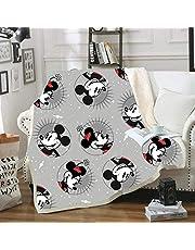 Goplnma -Disney Filt Musse och Mimmi gosig filt Musse Pigg Mimmi överdimensionerad fleecefilt, för vuxna och barn (150 x 200, 24)