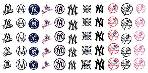 New York Baseball Nail Art Decals NY - Salon Quality