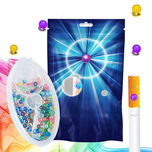 QoFina Filtri Standard per portasigarette, Capsule aromatiche per Sigarette, Capsule aromatiche, Capsule per proiettili di Perle esplosive Fai-da-Te, 100 Pezzi (Sapore Misto)