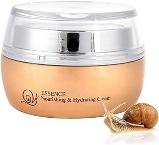 50ml Snail Facial Cream, Snail Essence Cream Day and Night Lightening Moisturizer Anti Aging Anti Wrinkle Facial Skin Repa...